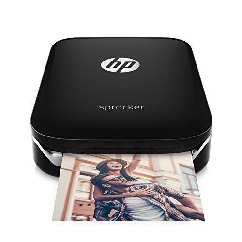 HP Sprocket Portable Photo Printer, print social media photos on 2x3 sticky-backed paper - black (X7N08A) (Renewed)