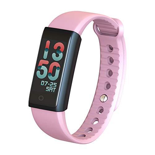 VIER Fitness Tracker, Bluetooth Sport Stappenteller Armband Compatibel met Iphone Android voor kinderen, dames, mannen en vrouwen