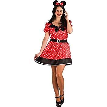 El Rey del Carnaval Disfraz de Ratoncita Roja para Mujer: Amazon ...