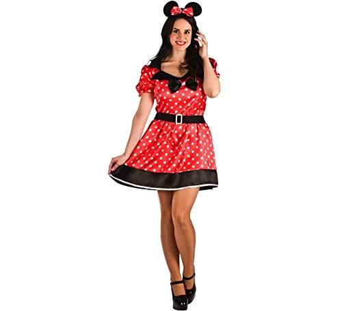 El Rey del Carnaval Disfraz de Ratoncita Roja para Mujer