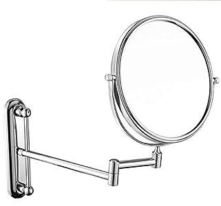 Relación calidad-precio Montado en la pared de maquillaje Espejo con aumento de 3x, 360deg; giratoria de 8 pulgadas de doble cara Vanidad Espejo de aumento de baño, latón + acero inoxidable, Metálico