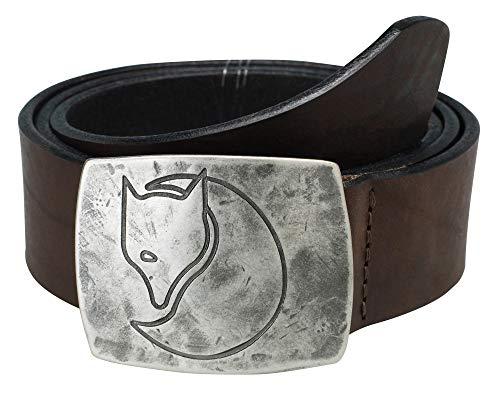 FJÄLLRÄVEN Unisex Murena Silver Gürtel, Braun (Leather Brown 250), No Aplica|#694 (Herstellergröße: XL)