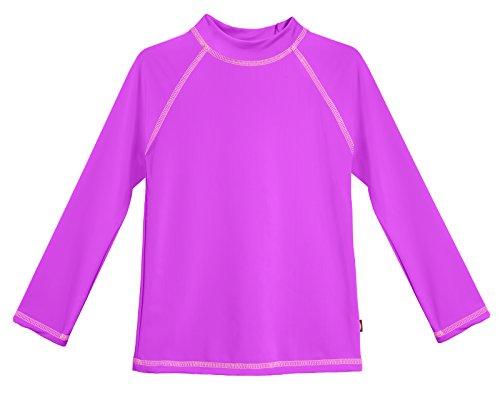 City Threads LS Baby Girls' Rashguard Swimming Suit Swim Tshirt Tee UPF50+ Sun Protection for Beach Pool Summer Fun, Deep Purple, 18/24m
