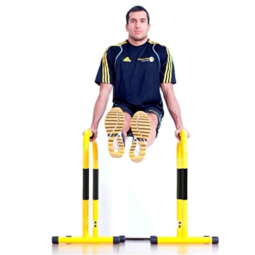 2 Sets Dip Bar Stand Strength Training Free Standing Power Tower Fitness Equipment for Home Gym 330 LB Weight Capacity