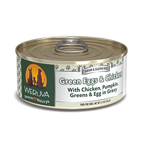 Weruva Classic Dog Food, Green Eggs & Chicken with Chicken Breast & Pumpkin in Gravy, 5.5oz Can (Pack of 24)