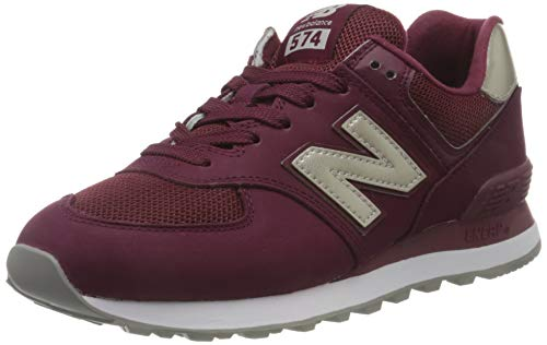 New Balance 574v2, Zapatillas para Mujer, Rojo (Dark Red Dark Red), 37.5 EU