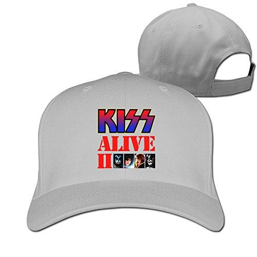 Kiss Alive II Flat Cool Snapback Hat Ash