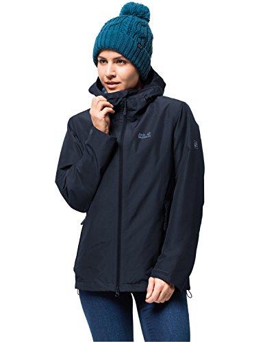 Jack Wolfskin Damen Chilly Morning JKT W Winterwanderjacke Wasserdicht Winddicht Atmungsaktiv Wetterschutzjacke, Midnight blau, XL