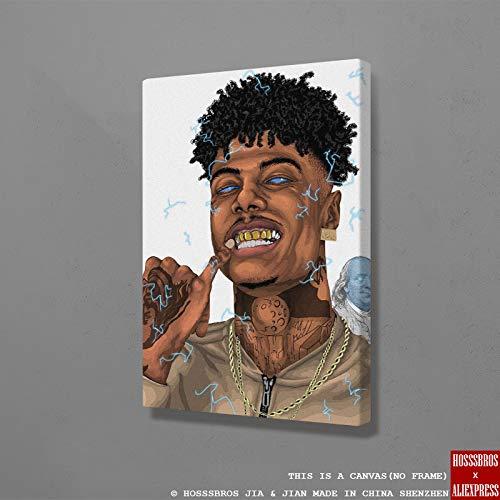 PLjVU Rapero Cartel Pintura Adolescente Pared Arte Lienzo habitación apartamento Arte-Sin marco45X60cm