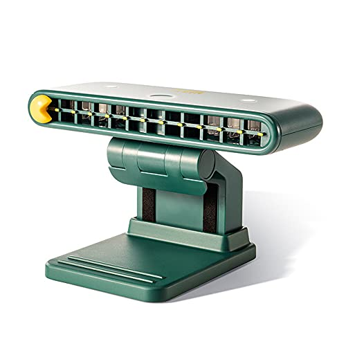 Bestmaple Ventilador portátil USB para colgar Mini ventilador de escritorio de 3 velocidades con ángulo ajustable de 120 ° para oficina, hogar, viajes, teléfono móvil (verde)