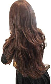 Womens Girls Fashion Wavy Curly Long Hair Wigs With Hair Cap