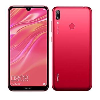 Huawei Y7 2019  32GB 3GB  6.26  Dewdrop Display 4000 mAh Battery 4G LTE GSM Dual SIM Factory Unlocked Smartphone  Dub-LX3  - International Version No Warranty  Red