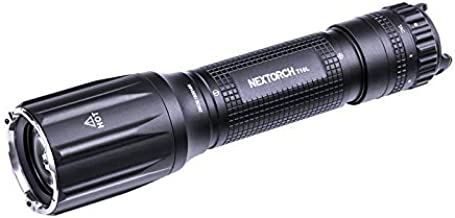 T10L 500lm 1100 Meters Long-Shot LEP Flashlight Long Thrower Tactical Torch with USB Charging 5000mah 21700 Battery