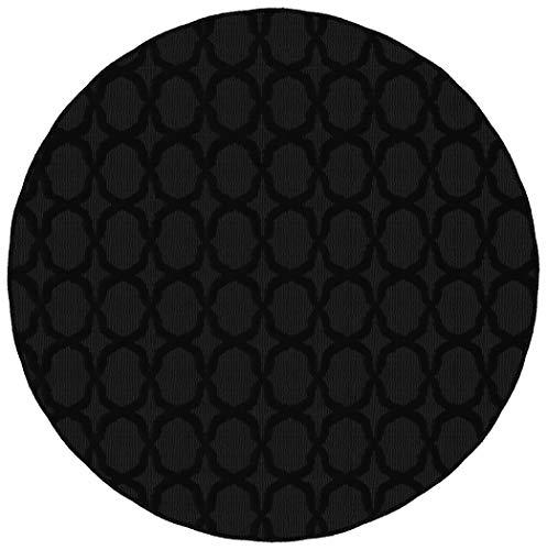 Garland Rug Sparta Area Rug, 5 Ft. Round, Black