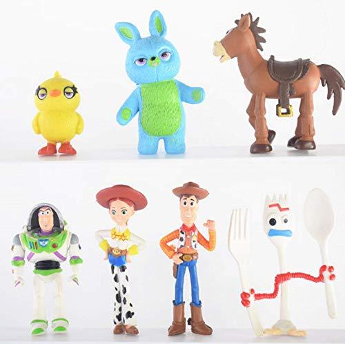 7Pcs Toy Story 4 Cartoon Spielzeug Buzz Lightyear Holzig Jesse Rosso Ochsenauge Alien Pferdegabel Sammlung Spielzeug Kinder 4-7Cm