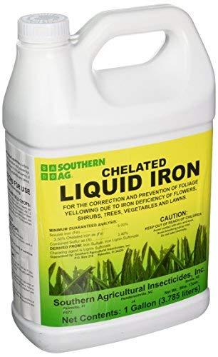 Southern Ag Chelated Liquid Iron (128oz -1 Gallon)