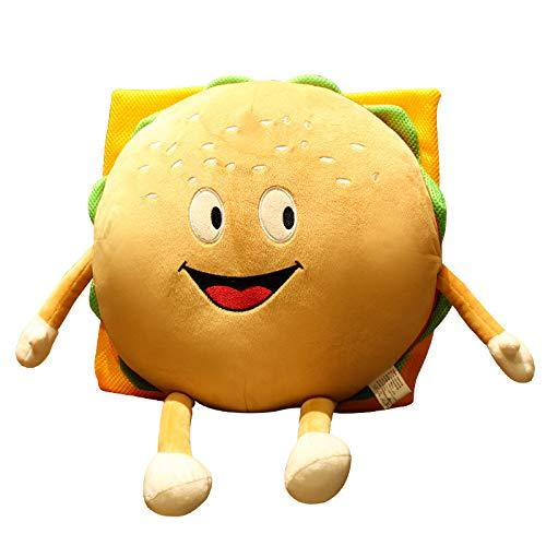 ODEUXS, nueva almohada creativa para hamburguesas, juguete de felpa, cojín de dibujos animados, suave muñeca bonita, almohada para dormir para niñas