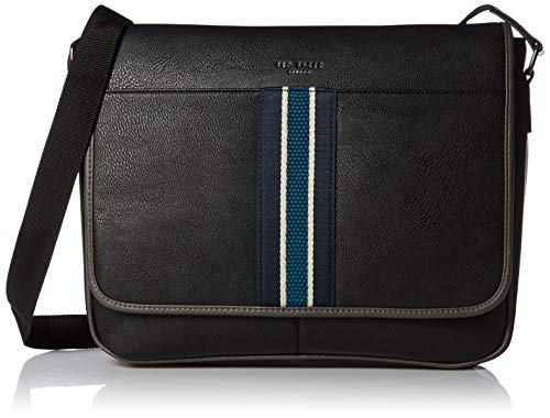 Ted Baker Men's KINGCOL Webbing Messenger, black, O/S