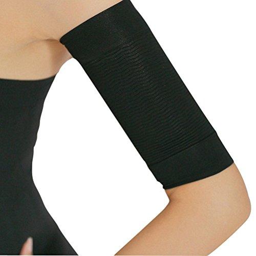 Ultnice - manicotti modellanti per il braccio, per bruciare i grassi e perdere peso, per eliminare la cellulite, un paio, colore nero