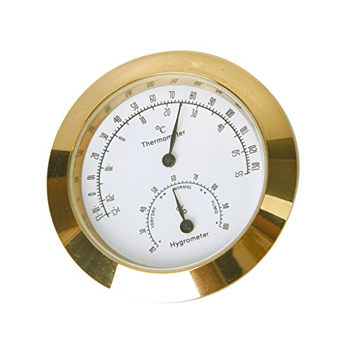 Thermomètre et Hygromètre Rond pour Guitare Violon