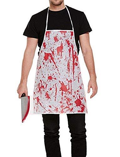KIRALOVE Delantal Manchado de Sangre - Carnicero - Asesino - Disfraz - Carnaval - Halloween - Cosplay - Accesorios - Hombre - Mujer Cosplay