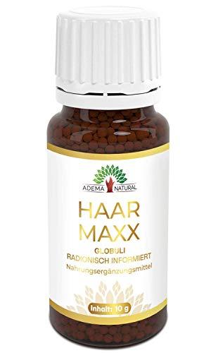 Adema Natural® HAARMAXX - schöne Haare - Haarwachstum beschleunigen - anti Haarausfall - Globuli mit 10g Inhalt