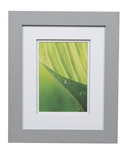 Gallery Solutions 8x10 Flat Double Mat for 5x7 Photo, Wall Mount & Tabletop Picture Frame, 5' x 7', Gray