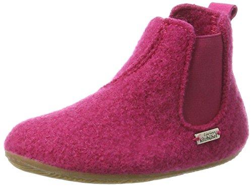 Living Kitzbühel Unisex-Kinder Chelsea Boots unifarben Hohe Hausschuhe, Pink (Magenta 362), 31 EU