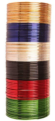 Touchstone Bangle Collection indischen Bollywood-Legierung Metall reichen 12 wunderschöne und Live-Armreifen Armbänder für Damen 2.5 Set von 72 Mehrfarbig