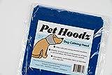 Pet Hoodz para perros, ansiedad, aseo y orejeras, protección para los oídos de perro, calmante, compresión de oídos, sudadera con capucha para mascotas, sudadera con capucha para perro (grande, azul)