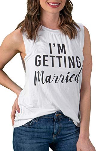 Bridal Tank Top - I'm Getting Married - White (L)