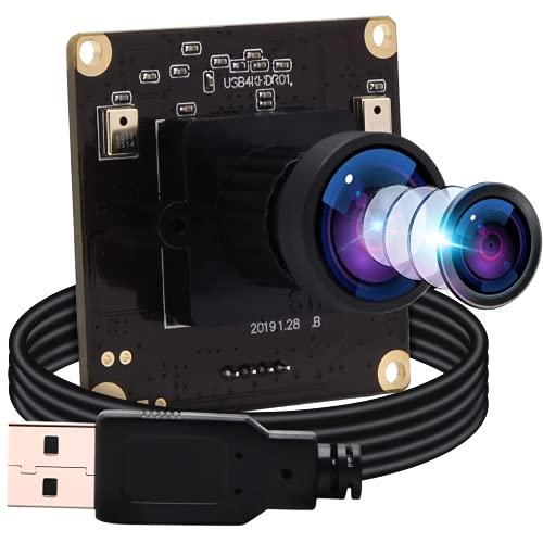 ELP 4K Webcam IMX317 Sensor Ultra HD Weitwinkel PC Web Kamera Mini UVC Kamera 3840x2160@30fps für Mac/Windows/Linux/Raspberry Pi,2160P USB Videokonferenz Industrie OTG Webkamera USB4KHDR01-L170