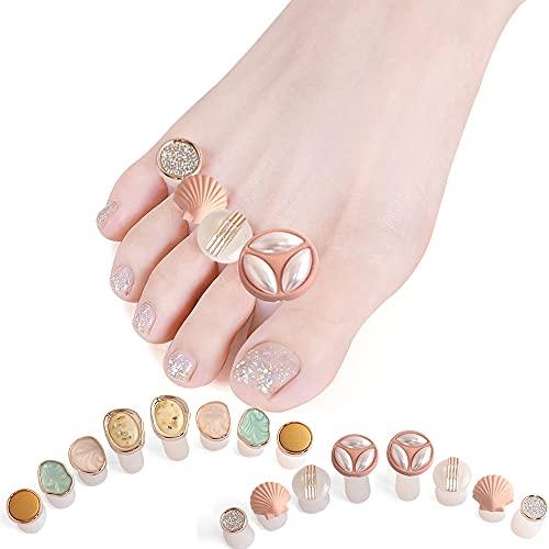 Lionvison Separadores de dedos e para esmalte de uñas, 16 piezas de...