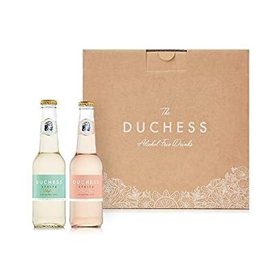 The Duchess Alcohol-Free Wine Spritzer Variety, Berry Rose and Elderflower White, Pack of 12 (12 x 275 ml)