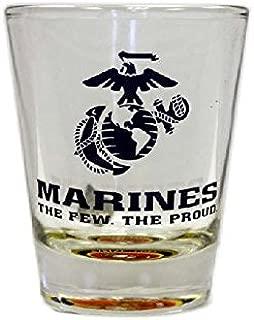 Gameday Outfitters 34745 Marines Bullseye Bottom Tabletop Shot Glass, Blue