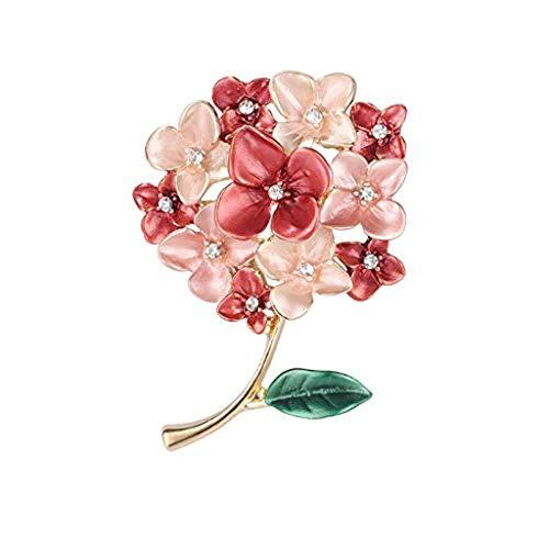 DAGONGREN Broche Floral Pernos for la Mujer Novias Broche de la Flor Insignia de joyería Regalo for su cumpleaños