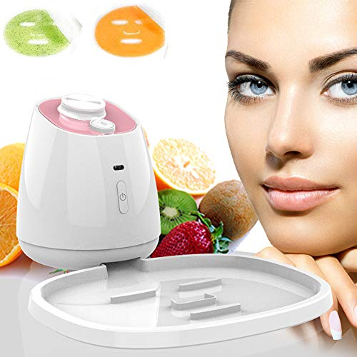 XGuang Face Mask Machine, DIY Fruit Vegetable Facial Mask Maker with Collagen Effervescent Tablets, Mask Maker Machine for Eye Chest Hand Neck Skin Care,Pink