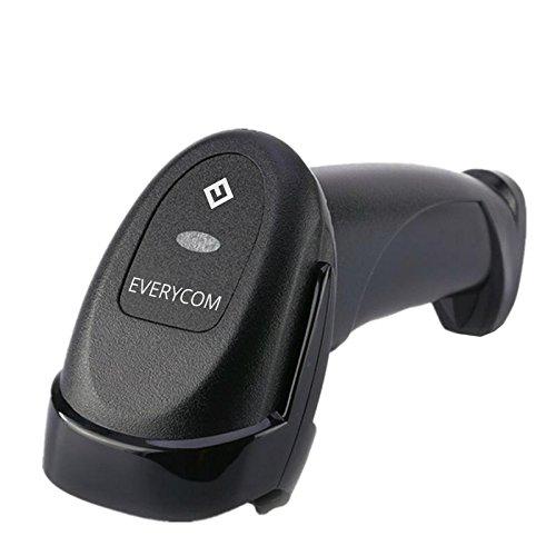 Everycom 1D Single Line Handheld Laser Barcode Scanner - Black