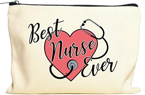 Moonwake Designs Best Nurse Ever Makeup Bag - Nurse Gift, Nurse Appreciation Week, Gift for Nurse