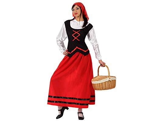 ATOSA disfraz pastora mujer rojo navideo adulto M