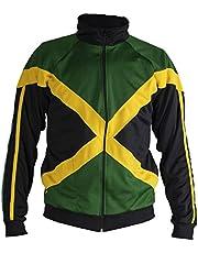 Mixed Martial Arts Jacket Trainingspak Authentiek Jamaica Reggae jack met lange mouwen en rits - uniseks (zwart)