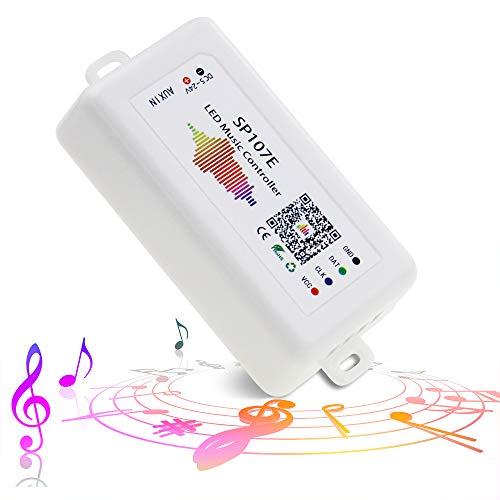 ALITOVE WS2812B WS2811 WS2815 Controlador LED de sincronización de música Bluetooth App Control por iOS Android para WS2812 WS2813 SK6812 WS2801 Dream Color Direccionable LED...