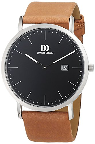 Danish Design Herren Analog Quarz Uhr mit Leder Armband 3314525