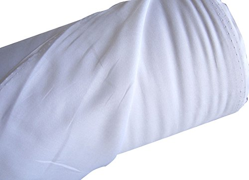 Mullstoff, 100 % Baumwoll-Musselin, 147,8 cm breit, ca. 45 m lang weiß