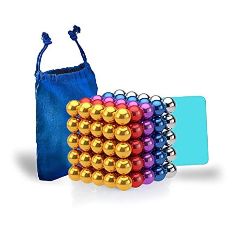 Desconocido Bolas magnéticas de Colores 5mm 125 Piezas – Bolitas magnéticas – Bolas de imán para aliviar el estrés – Magnet Balls