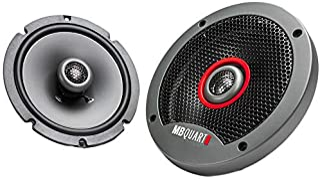 MB Quart FKB116S Formula Slim Mount Car Speakers (Black, Pair) – 6.5 Inch Coaxial Speakers, 60 Watt, Car Audio, Internal C... photo