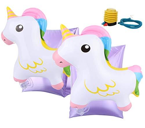 Eozy Schwimmflügel Kinder Kleinkind Schwimmhilfe 3D Cartoon Tier Aufblasbare Schwimmreifen Pferd