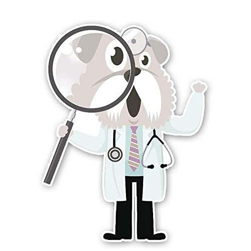 CTMNB auto sticker 10.3CM*13.5CM hond Doctor met een take vergrootglas PVC kwaliteit sticker auto sticker
