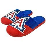 FOCO NCAA Arizona Wildcats Mens Colorblock Slide SlippersColorblock Slide Slippers, Team Color, Large (11-12)