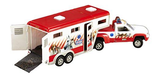 Breyer Stablemates Animal Rescue Truck & Horse Trailer Vehicle | 14